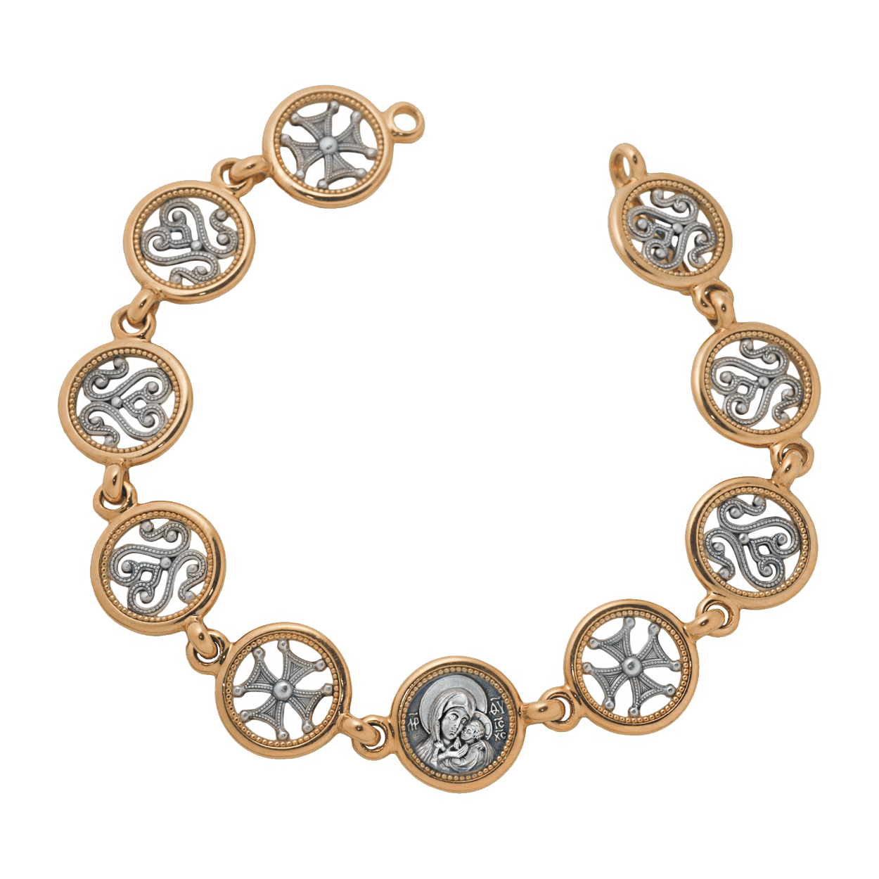 russian-orthodox-silver-gilded-bracelet-for-woman-master-jeweler-fedorov
