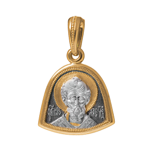 Russian-Orthodox-silver-Icon-medal-pendant-SAINT-NICHOLAS-THE-MIRACLE-WORKER-Master-Jeweler-Fedorov
