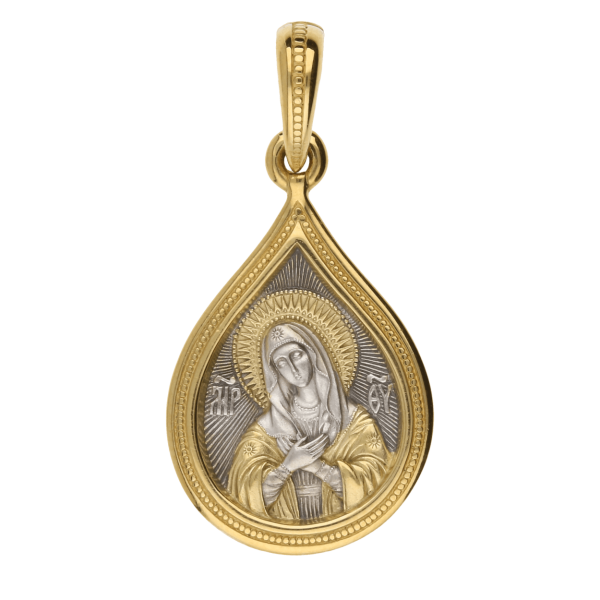 Russian-Orthodox-Icon-silver-medal-pendant-Virgin-Mary-Theotokos-ELEUSA-Master-Jeweler-Fedorov