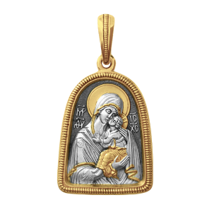 Russian-Orthodox-Icon-silver-medal-pendant-OUR-LADY-OF-YAROSLAVL-Master-Jeweler-Fedorov