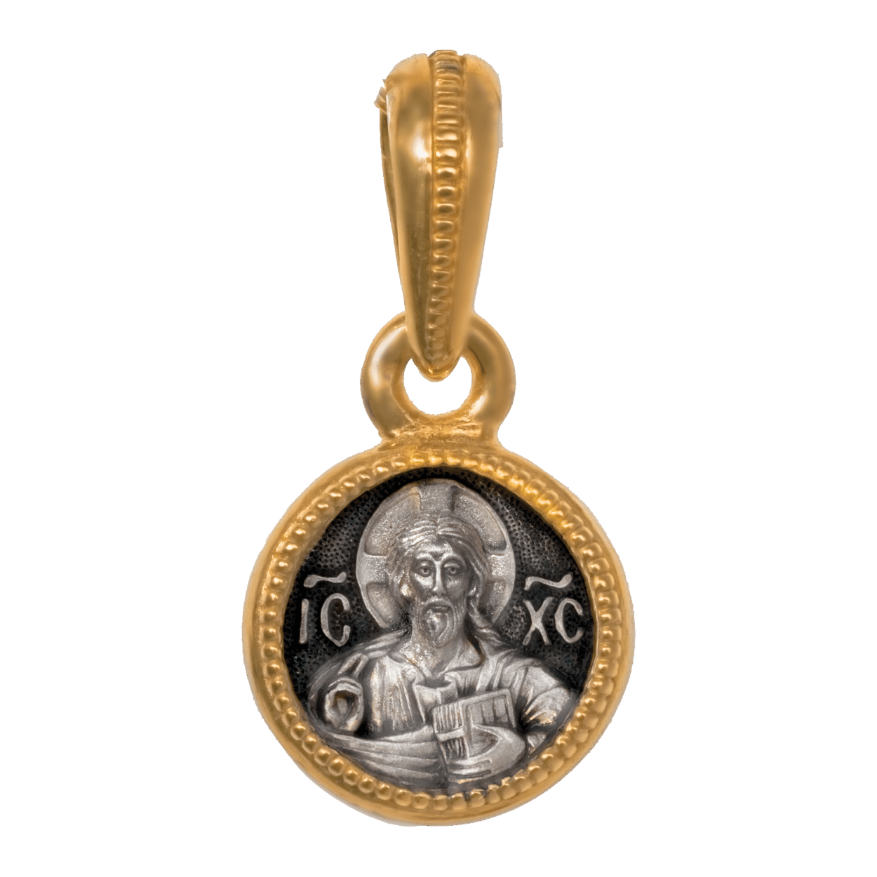 Russian-Orthodox-icon-silver-medal-pendant-THE-LORD-ALMIGHTY-THEOTOKOS-ASSUNTA-Master-Jeweler-Fedorov