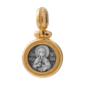 Russian-Orthodox-silver-icon-pendant-SAINT-TATIANA-THE-HOLY-MARTYR-Master-Jeweler-Fedorov