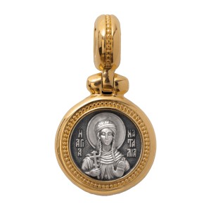 Russian-Orthodox-silver-icon-pendant-SAINT-NATALIA-OF-NICOMEDIA-THE-HOLY-MARTYR-Master-Jeweler-Fedorov
