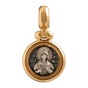 russian-orthodox-silver-icon-medal-pendant-saint-ludmila-holy-martyr-and-duchess-of-bohemia-master-jeweler-fedorov