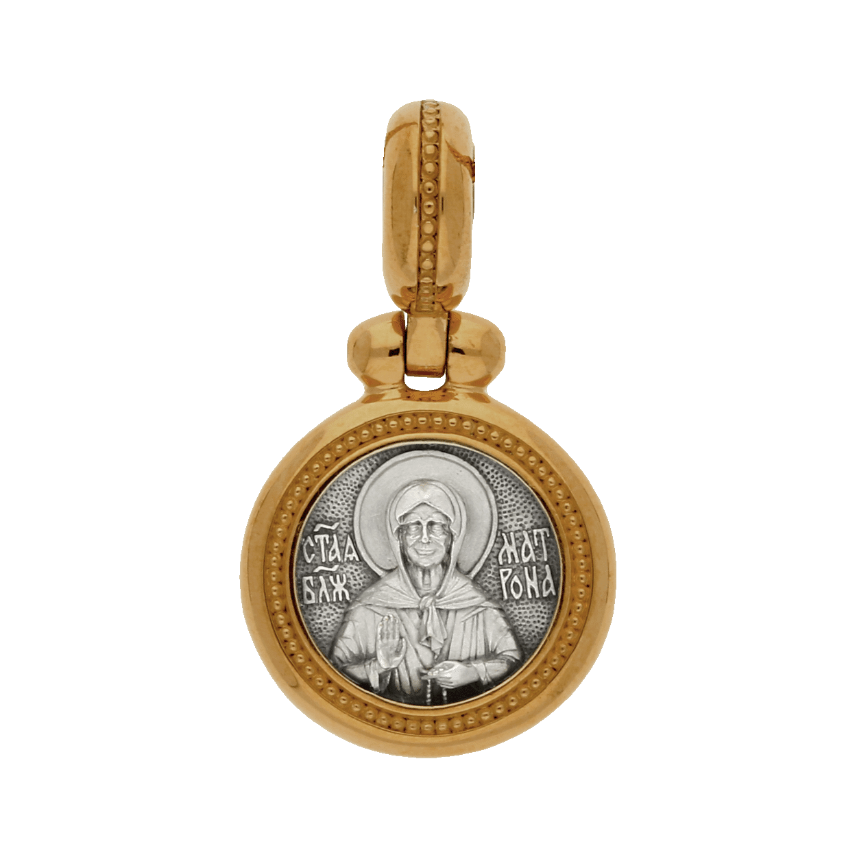 IS116_A-Russian-Orthodox-silver-icon-medal-pendant-MATRONA-THE-BLESSED-ELDRESS-OF-MOSCOW-Master-Jeweler-Fedorov (1)-min