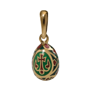 Russian-Orthodox-silver-enamel-Easter-Egg-pendant-BLOSSOMING-CROSS-Master-Jeweler-Fedorov
