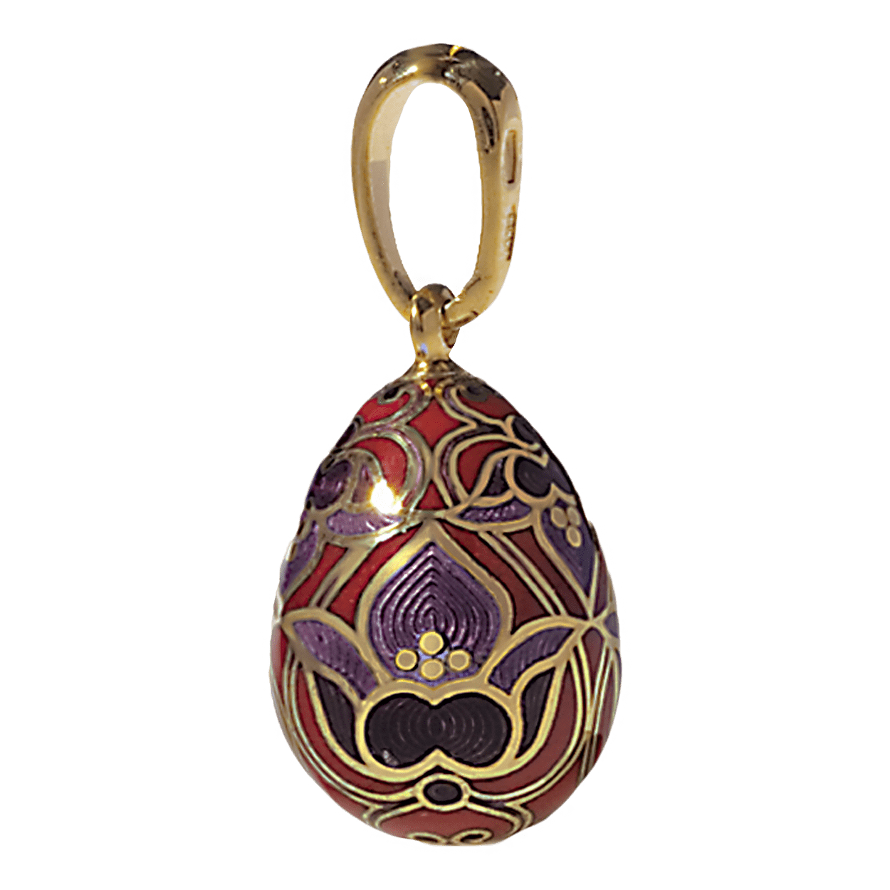 Russian-Orthodox-silver-enamel-Easter-Egg-pendant-LILY-BLOSSOM-Master-Jeweler-Fedorov