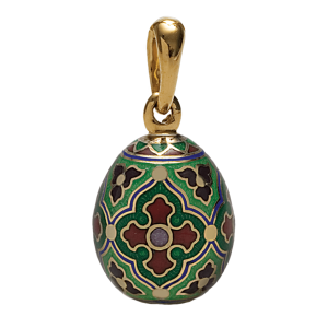 Russian-Orthodox-silver-enamel-Easter-Egg-pendant-LITTLE-FISH-Master-Jeweler-Fedorov