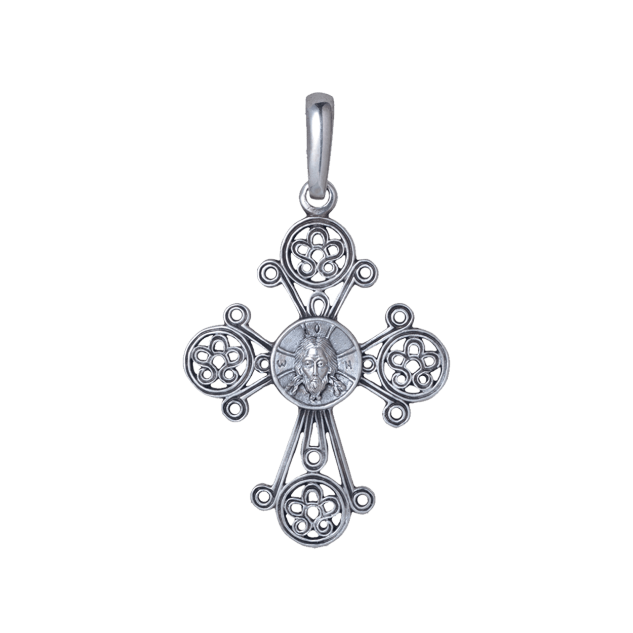 Russian-Orthodox-silver-cross-pendant-IMAGE-OF-THE-SAVIOR-NOT-MADE-BY-HUMAN-HANDS-CHRISMA-Master-Jeweler-Fedorov