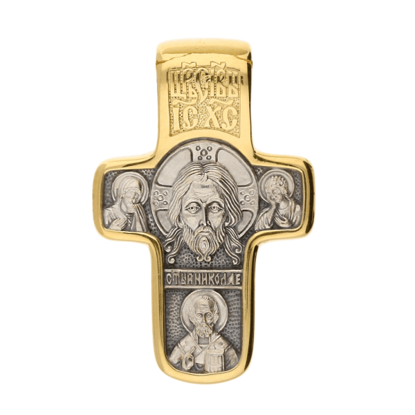 Russian-Orthodox-silver-Cross-pendant-HOLY-FACE-OF-THE-SAVIOR-NOT-MADE-BY-HUMAN-HANDS-Master-Jeweler-Fedorov