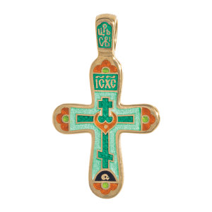 Russian-Orthodox-enamel-silver-Cross-pendant-CROSS-OF-CALVARY-WITH-CRESCENT-BBBB-CRYPTOGRAM-Master-Jeweler-Fedorov