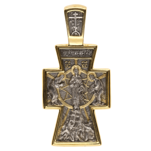 Russian-Orthodox-silver-Cross-pendant-VALAAM-CROSS-Master-Jeweler-Fedorov
