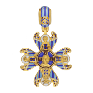 Russian-Orthodox-silver-enamaled-Cross-pendant-THE-HOLY-FACE-OF-THE-SAVIOR-WITH-SYMBOLS-OF-THE-EVANGELISTS