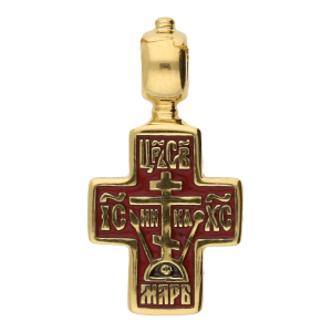russian-orthodox-silver-enamaled-children-old-believers-cross-pendant-baptismal-cross-Master-Jeweler-Feodorov