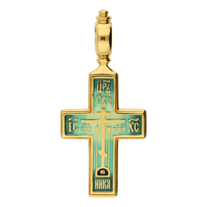 Russian-Orthodox-Old-Believers-silver-enameled-cross-pendant-CROSS-OF-CALVARY-PRAYER-TO-THE-HOLY-CROSS-Fedorov