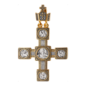 Russian-Greek-Orthodox-silver-cross-pendant-VENETIAN-Master-Jeweler-Fedorov