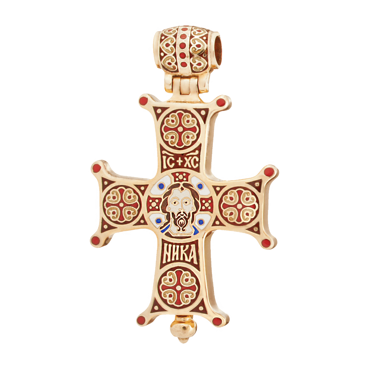 Russian-Orthodox-silver-enamel-Encolpion-cross-pendant-HOLY-FACE-NOT-MADE-BY-HUMAN-HANDS-Master-Jeweler-Fedorov