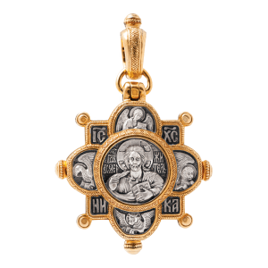 Russian-Orthodox-silver-Reliquary-cross-pendant-THE-LORD-ALMIGHTY-OUR-LADY-OF-KAZAN-Master-Jeweler-Fedorov